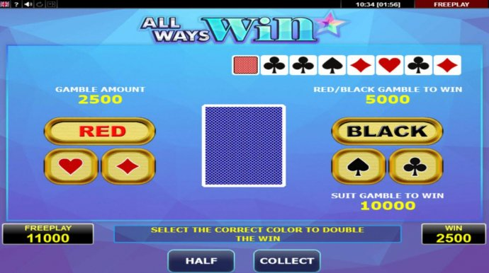 Gamble Feature Game Board by No Deposit Casino Guide