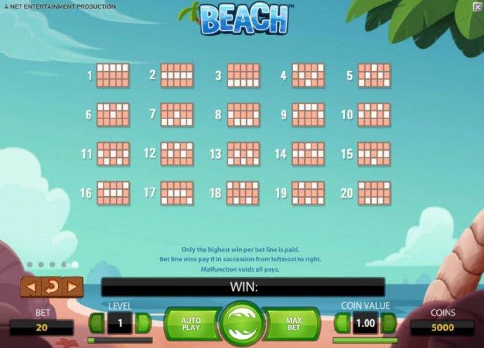 No Deposit Casino Guide image of Beach