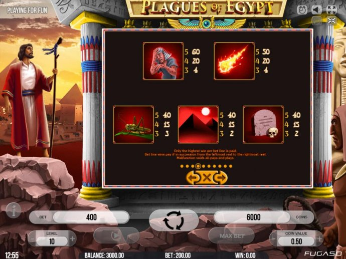 Low value game symbols paytable by No Deposit Casino Guide