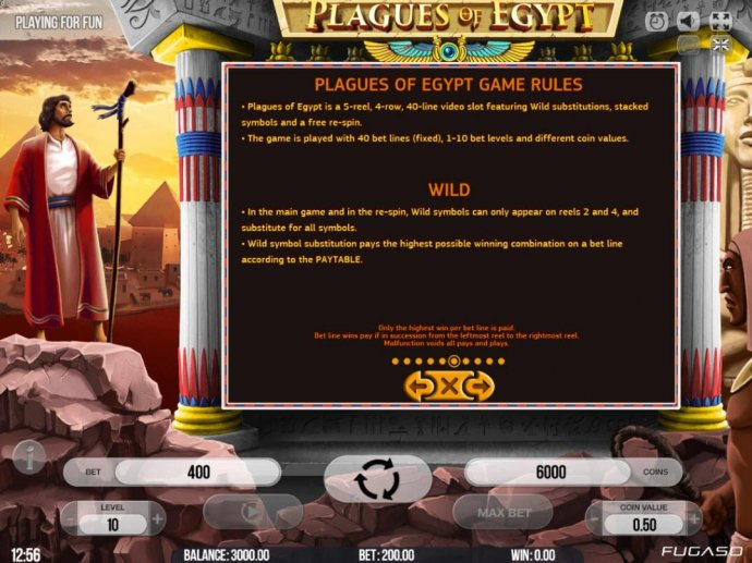 No Deposit Casino Guide - General Game Rules - The theoretical average return to player (RTP) is 95.80%.