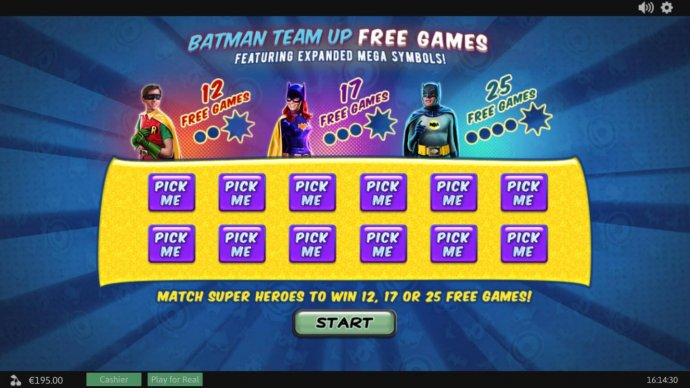 Match Super Heroes to win 12, 17 or 25 free games! by No Deposit Casino Guide