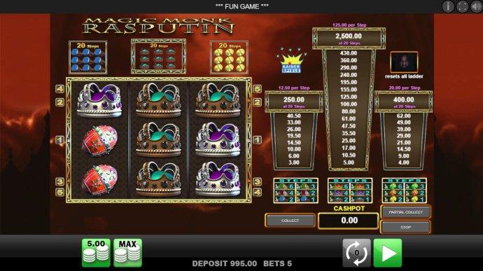 No Deposit Casino Guide image of Magic Monk Rasputin