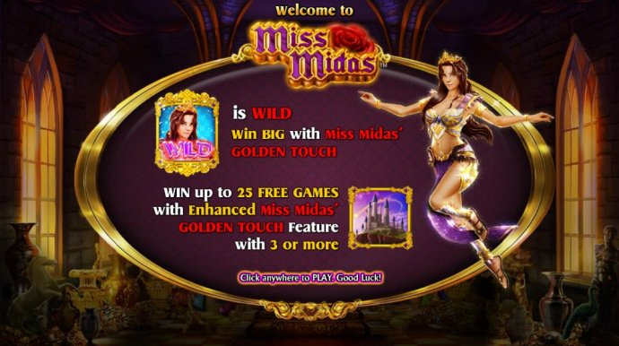 Miss Midas is wild and win up to 25 free games with enhanced miss midas golden touch feature - No Deposit Casino Guide