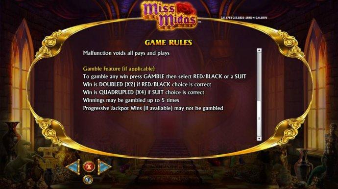 No Deposit Casino Guide image of Miss Midas