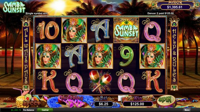 A five of a kind triggers 125.00 big win. - No Deposit Casino Guide