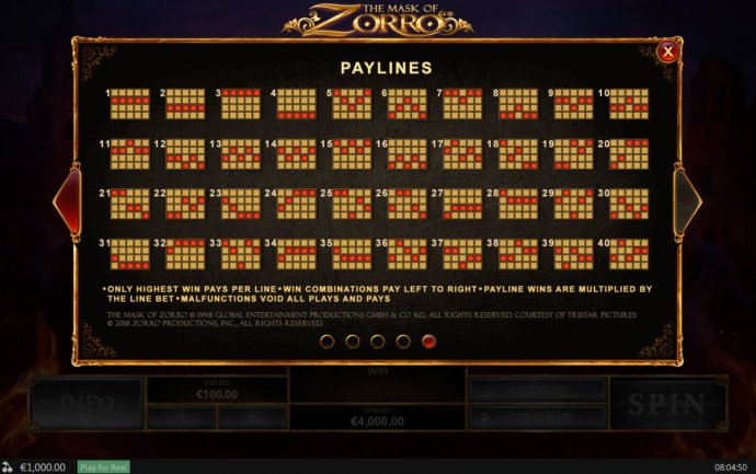 The Mask of Zorro by No Deposit Casino Guide