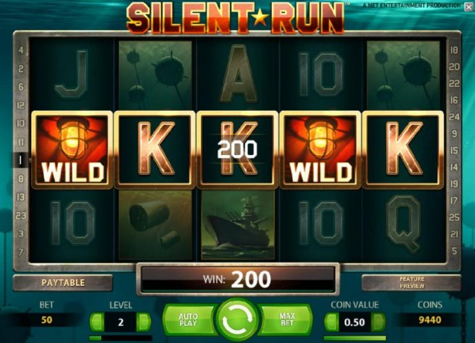 five of a kind triggers a 200 coin payout by No Deposit Casino Guide
