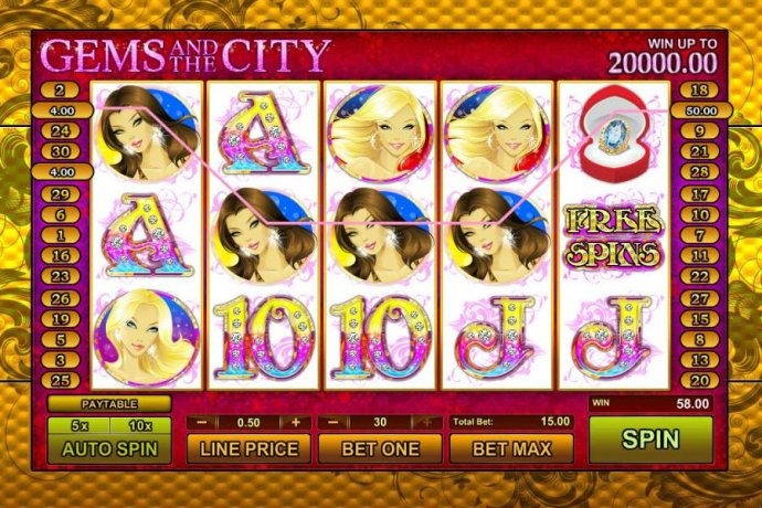 four of kind triggers a $50 jackpot by No Deposit Casino Guide