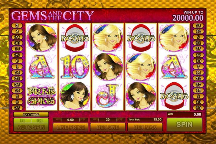 No Deposit Casino Guide image of Gems and the City