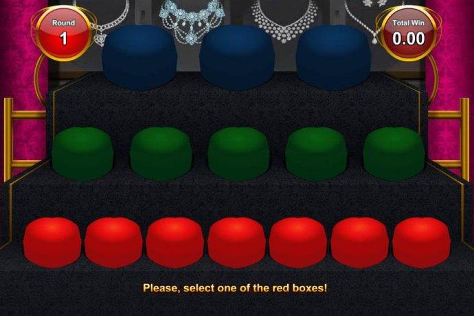 No Deposit Casino Guide - bonus feature game board - select one red box