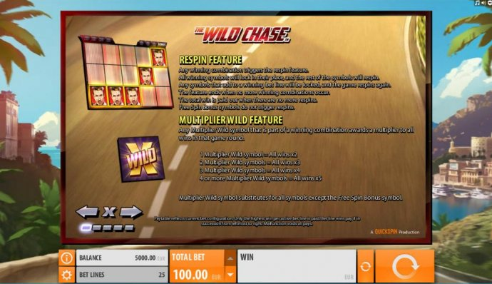 The Wild Chase by No Deposit Casino Guide