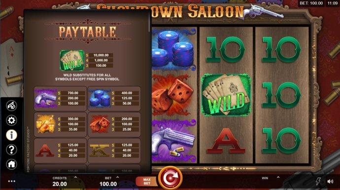 No Deposit Casino Guide image of Showdown Saloon