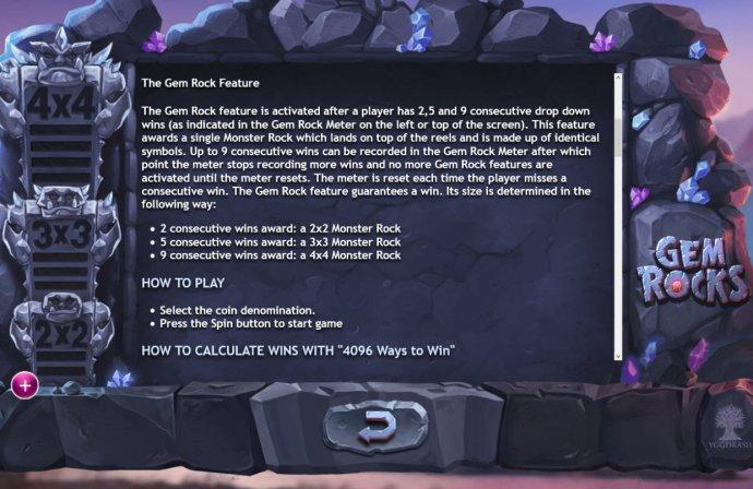 No Deposit Casino Guide image of Gem Rocks