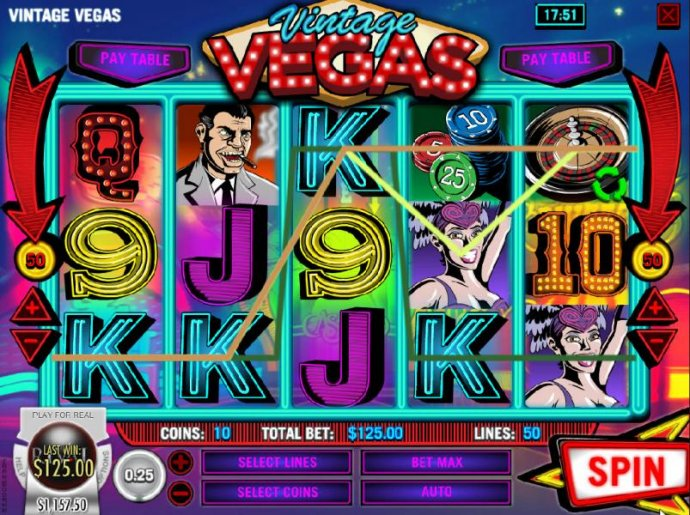 No Deposit Casino Guide image of Vintage Vegas
