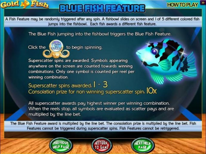 Blue Fish Feature by No Deposit Casino Guide