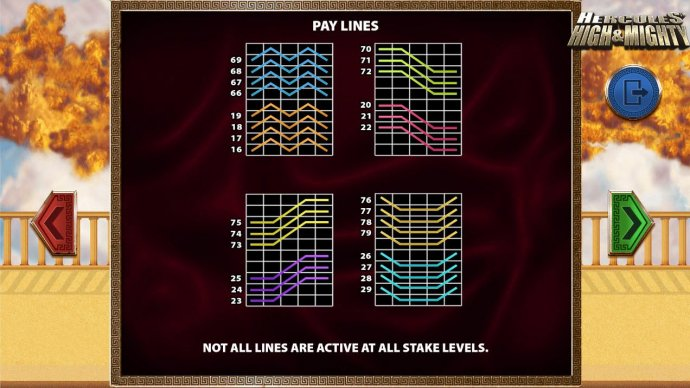 Payline Diagrams set 2 by No Deposit Casino Guide