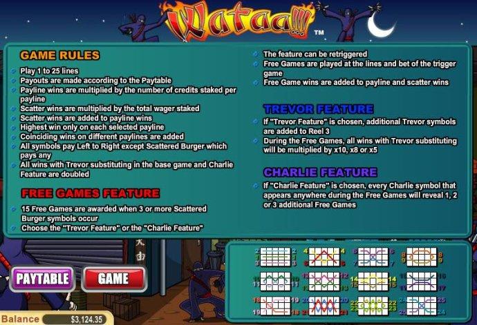 No Deposit Casino Guide image of Wataa!