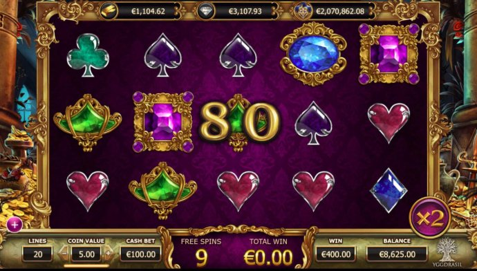 A big win triggered during the free spins feature. by No Deposit Casino Guide