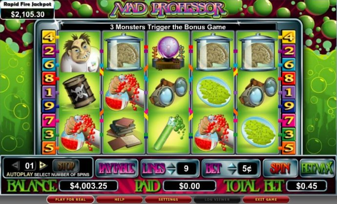 No Deposit Casino Guide image of Mad Professor