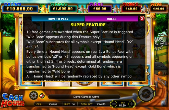 Super Feature Rules by No Deposit Casino Guide