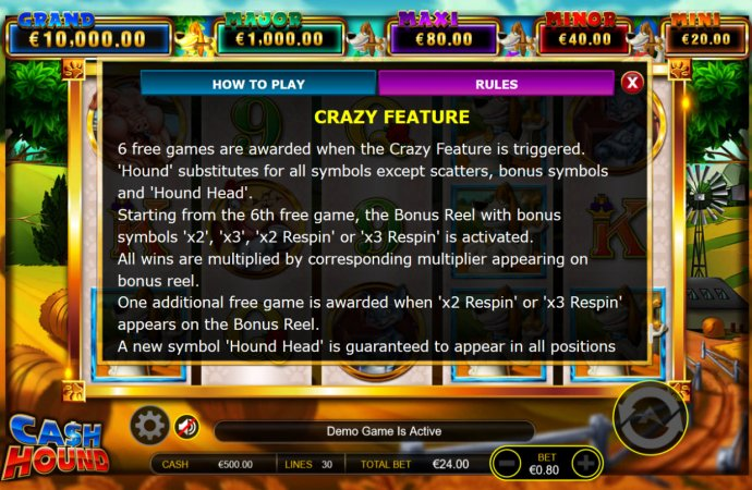 No Deposit Casino Guide - Crazy Feature Rules