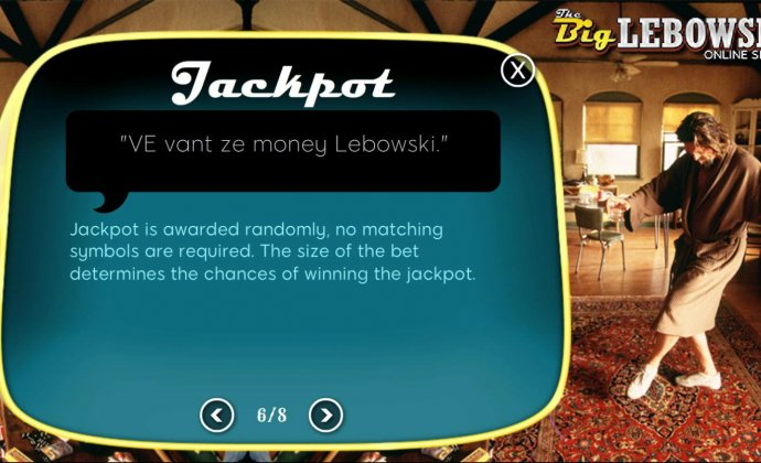 Jackpot is awarded randomly, no matching symbols are required. The size of the bet and the amount of lines determine the chances of winning the jackpot. by No Deposit Casino Guide