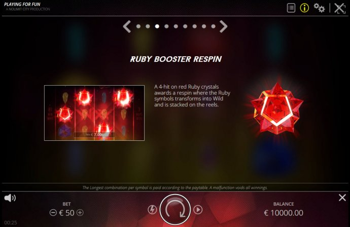 Ruby Booster Respin by No Deposit Casino Guide
