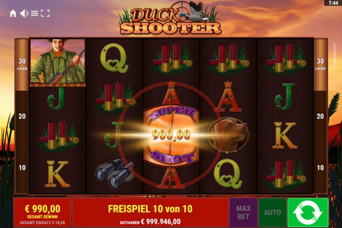 No Deposit Casino Guide - Supe Duck symbol leads to a big win