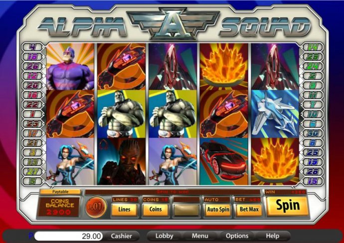 two scatter symbols on reels 3 and 5 triggers a 1350 coin big win jackpot by No Deposit Casino Guide