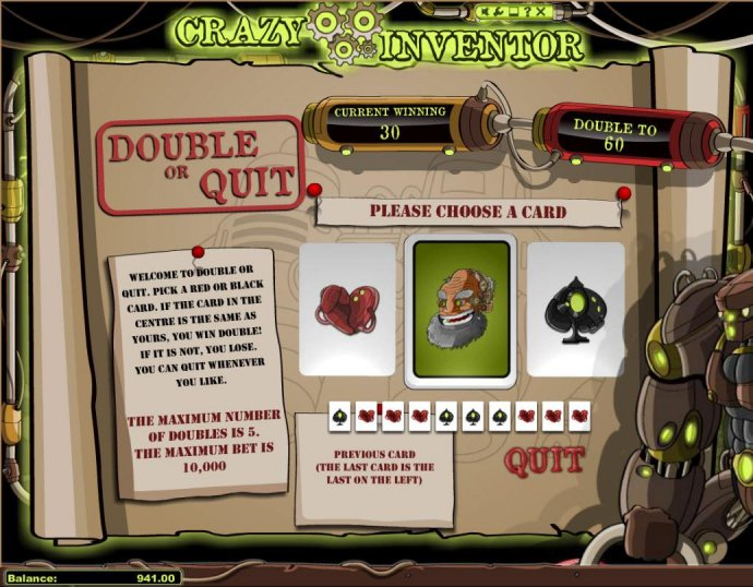 No Deposit Casino Guide image of Crazy Inventor