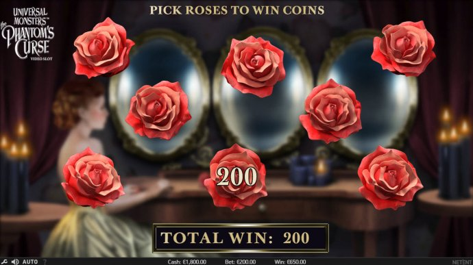 Select roses to reveal prize awards by No Deposit Casino Guide