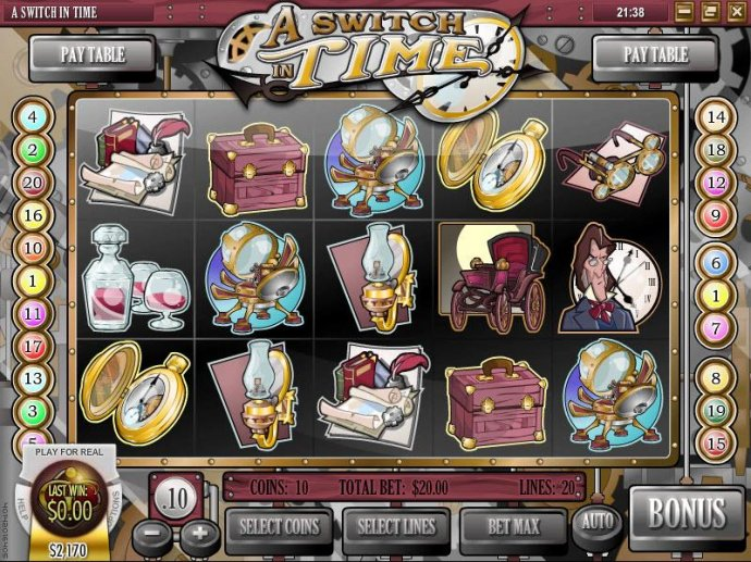 A Switch In Time by No Deposit Casino Guide