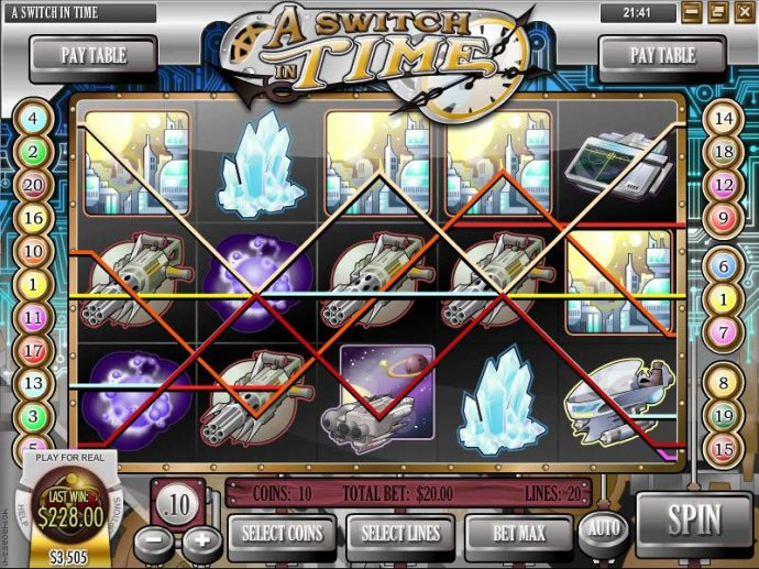 No Deposit Casino Guide - multiple winning paylines triggers a $228 big win payout