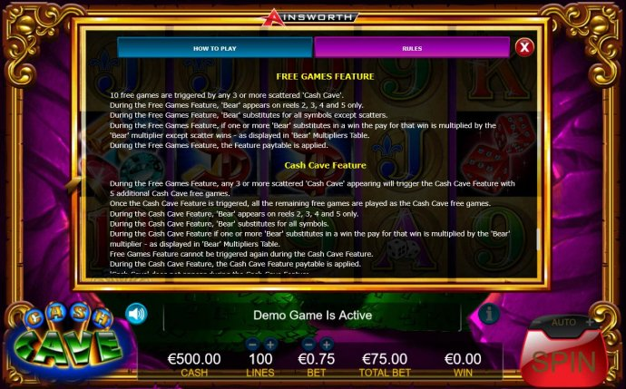 Free Games Feature Rules by No Deposit Casino Guide