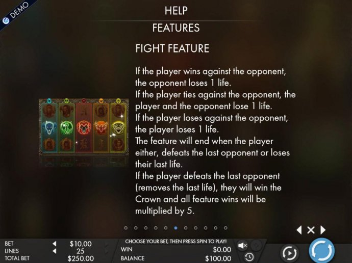 Fight Feature Rules - Continued by No Deposit Casino Guide