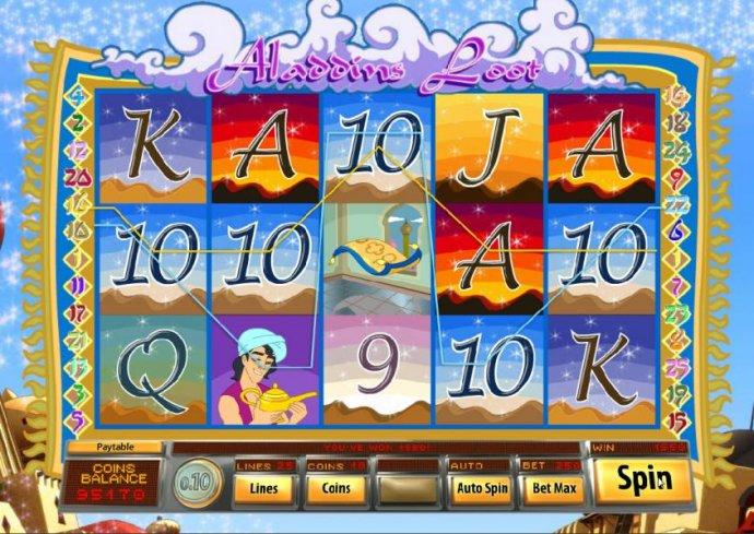 No Deposit Casino Guide image of Aladdin's Loot