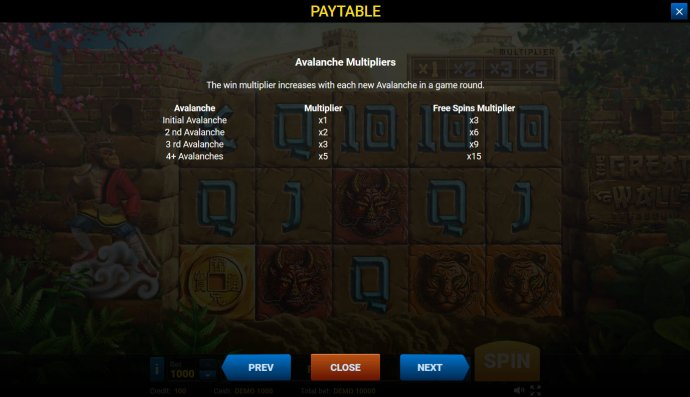 Avalabche Multipliers by No Deposit Casino Guide