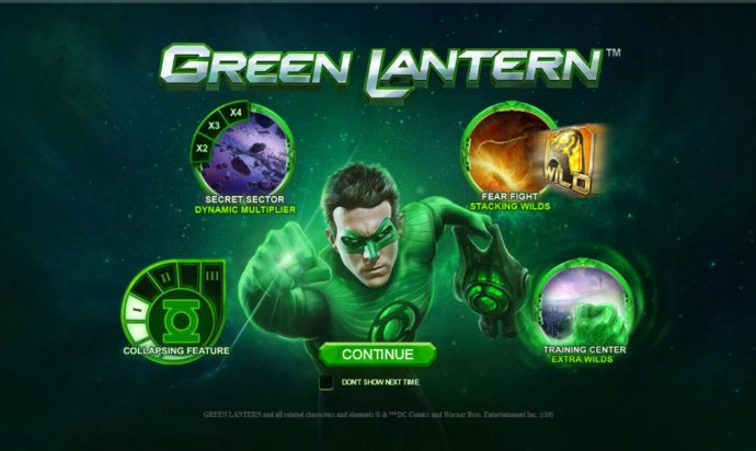 Green Lantern by No Deposit Casino Guide