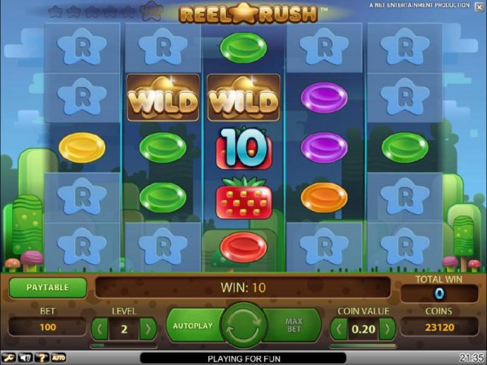 No Deposit Casino Guide - a pair of wilds triggers a ten coin jackpot leading to a re-spin with expanded reel psoitions