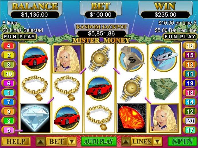 Multiple winning paylines triggers a 235.00 big win! - No Deposit Casino Guide