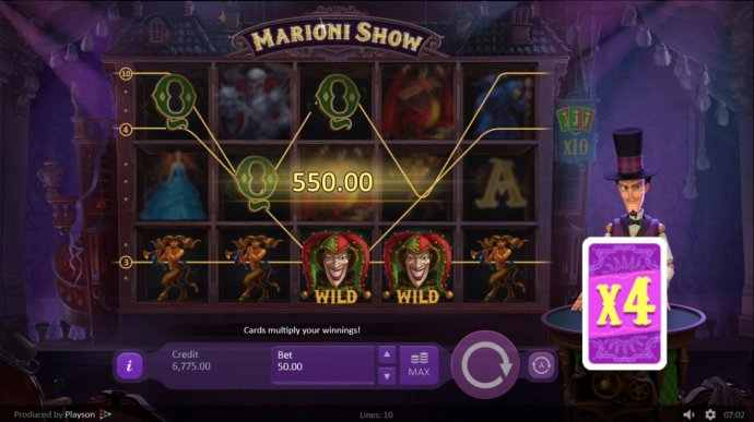 X4 multiplier will be applied to the current winnings by No Deposit Casino Guide