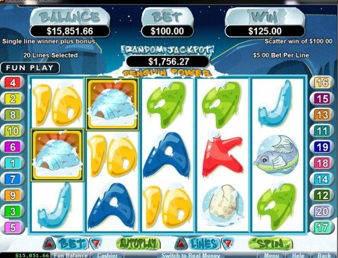 Penguin Power by No Deposit Casino Guide