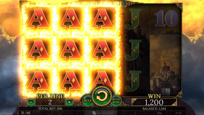 Stacked symbols on reels 1, 2 and 3 lead to a big win by No Deposit Casino Guide