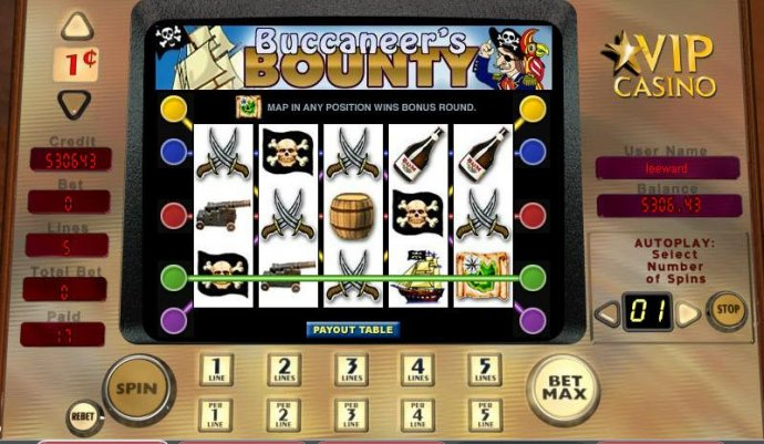 No Deposit Casino Guide image of Buccaneer's Bounty
