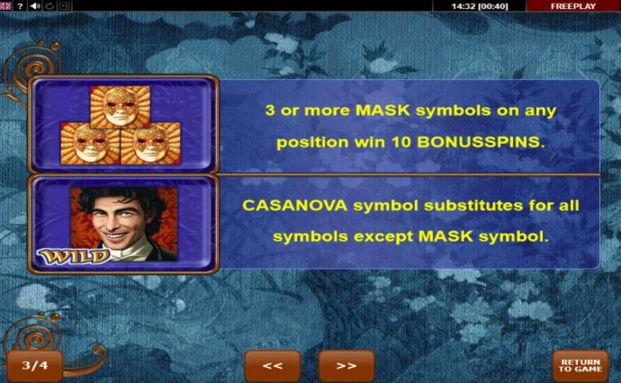 Casanova screenshot