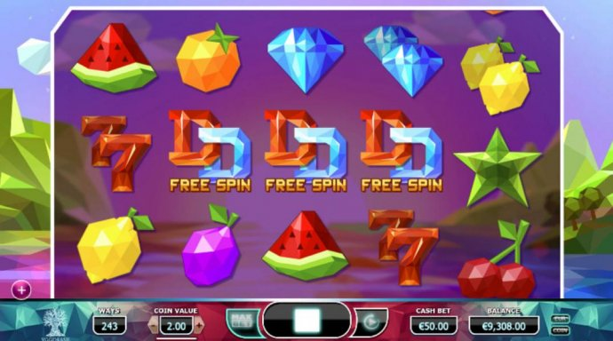 No Deposit Casino Guide - Free spins feature triggered by three or more free spin symbols
