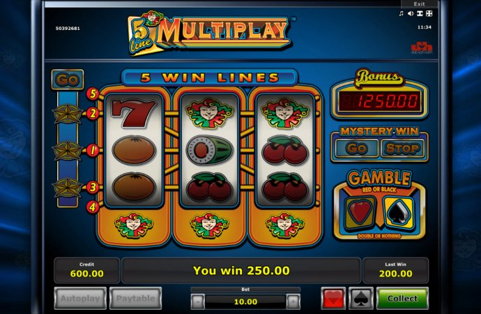 5 Line Mutiplay by No Deposit Casino Guide