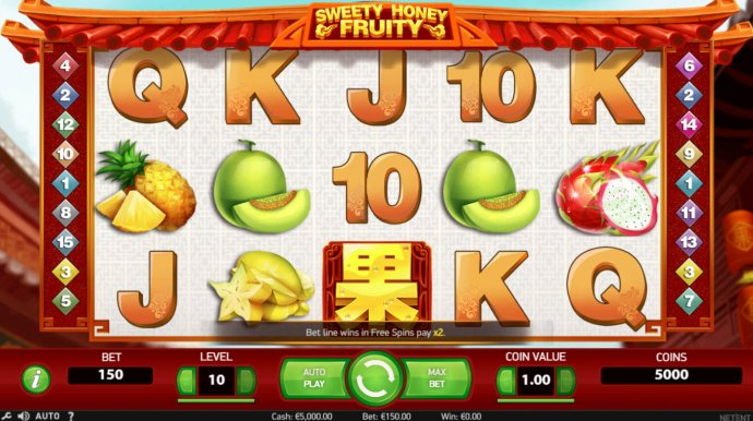 No Deposit Casino Guide image of Sweety Honey Fruity