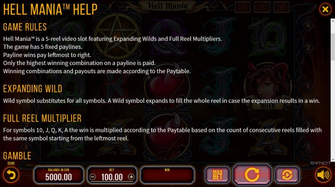 Hell Mania by No Deposit Casino Guide