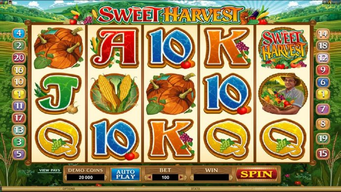 No Deposit Casino Guide image of Sweet Harvest